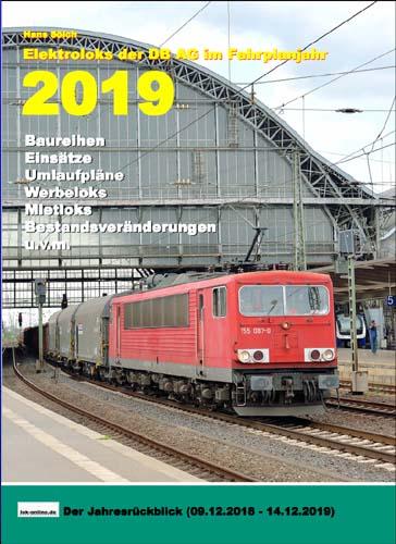 Elektroloks der DB AG im Fahrplanjahr 2019